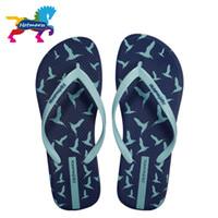 Wholesale bedroom slippers women resale online - Hotmarzz Women Slippers Summer Flip Flops Beach Flat Sandals Animals Seagulls Print Fashion House Shoes Bedroom Ladies