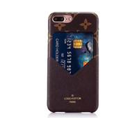 metal cep telefonu kutuları toptan satış-Lüks baskı metal deri cep telefonu kılıfı için iphone X XS Max XR 8 7 6 6 s artı telefon cüzdan kılıf Coque Shell