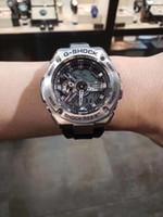 Wholesale platinum high end watches resale online - 2019 High end luxury Casio heavy metal GST Quartz Men s Watch Round Women s Watch Leather Strap Designer
