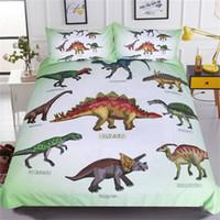 Wholesale queen bedding sets for boys resale online - Dinosaur Bedding Set Jurassic Printed Duvet Cover Set Setgosaurus Bedclothes for Boys Cartoon Home Textiles