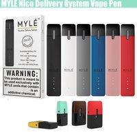 buharlı kalem tek kullanımlık toptan satış-Myle SaltsNic Delivery System 0.9ml Flavours Pods Kartuşlar Başlangıç Seti 240mAh Dahili Pil Tek Kullanımlık Taşınabilir Vape Kalem Buharları Cihazı
