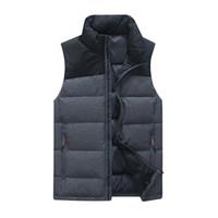 homens para baixo colete venda por atacado-Down Vest Homens Inverno 2018 New 90% Branco Pato Para Baixo Moda Estilo Muito Grosso Colete Plus Size 4XL K8041