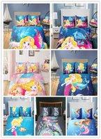 ingrosso set regalo per bambine-La piccola Sirenetta stampa 3D set biancheria da letto regalo ragazze con federa