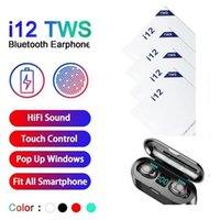 Wholesale i12 i9S I11 Inpods F9 TWS Bluetooth V5 Wireless Headphones Pop Up Window Earphones Stereo Touch Control Headset Earbud With Mic
