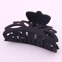 Wholesale crabs claw resale online - New Fashion Large Claw For Hair Plastic Ponytail Holder Hollow Out Pattern Crab Women Hair Accessories For Washing Tools