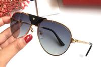 Wholesale sunglasses screws resale online - France Design New Fashion Leather buckle Sunglasses Metal Frame Gold screw style Brand Designer For Men Women Pilot Driver Eyewear lunettes