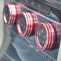 ingrosso controlli dell'aria condizionata-Car Air Conditioning Knob Control Switch Sticker Trim Anello decorativo Circle Cover Car styling 3 pezzi Per Volkswagen Golf 7