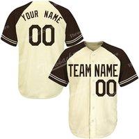 mangas de beisebol personalizado venda por atacado-Homens personalizados Baseball Jerseys Qualquer Nome Número Bordado Manga Splicing Jersey Qualidade Superior Produtos Diretamente Livre Navio