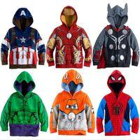 pokemon hoodie groihandel-Spider-Man Captain America League of Legends Sweater Kapuzenjacke Kinder Designer-Outfit setzt Trainingsanzug Jungen Kleinkindjacke Kinder
