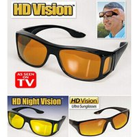 envoltorios gafas de sol envolver al por mayor-Nueva visión de HD vidrios sobre el Wrap Arounds gafas de sol de los hombres Noche de conducción UV400 Gafas protectoras Gafas de seguridad de los conductores Gafas de sol