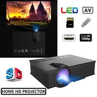 Wholesale mini projector manual for sale - Group buy Mini LED Projector P HD LCD Projectors UC68 Portable Multi Media Player Unic Wifi Wireless DLNA Miracast Display Home Theater HDMI Andro