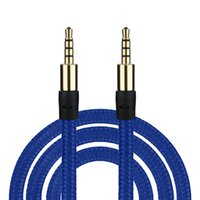 Wholesale flat braid cord for sale – best 3 mm Auxiliary AUX Extension Audio Cable Flat male to male Stereo Aux cord M FT Fabric Braid cable