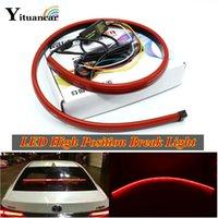 intervalos de luz venda por atacado-1X 90CM LED vermelho alta Posição quebra Light Strip turno sinal luz de circulação diurna Luz Traseira Duplo flash Car Styling
