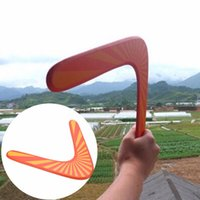 Wholesale Handmade Wooden Boomerang classic V shape Frisbee Flying Saucer Toys child outdoor toy