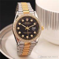 mejores relojes de marca para hombres al por mayor-2020 hombres mujeres desingnRolex relojes de pulsera de cuarzo de acero Tela Cronómetro superiores relogies superior del reloj de la marca para los hombres Relojes mejor regalo