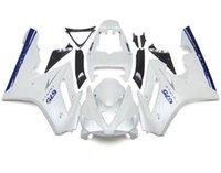 triunfo 675 carenado azul blanco al por mayor-Nuevos kits de carenados de plástico ABS de inyección de inyección aptos para triunfo Daytona 675 06 07 08 2006 2007 2008 Carenado Carrocería bonito blanco azul