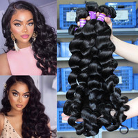 Wholesale peruvian weave hairstyles for sale - Group buy Loose Deep Wave Bundles Peruvian Hair Bundles Unprocessed Peruvian Virgin Hair Loose Deep Wave Curl Hairstyles a Human Hair Extensions