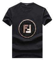 hip hop beyaz tişörtler toptan satış-2019 Moda Lüks Tasarımcı T Gömlek Hip Hop Beyaz Erkek Giyim Rahat T Shirt Mektuplar Ile Erkekler Için Baskılı TShirt Boyutu M-3XL-998