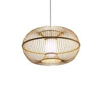 vintage endüstriyel stil ışık fikstürleri toptan satış-Çin Tarzı El Yapımı Bambu Kolye Işıkları Güneydoğu Asya Tarzı Kısa Restoran Koridor Vintage Endüstriyel Aydınlatma Armatürleri