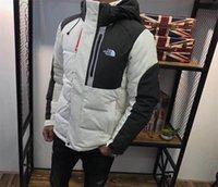 kışlık ceketler unisex parkas toptan satış-Erkekler Kış Puffer Coats The North NF ceket Aşağı Yüz Ayrılabilir Hood Parka Mont Marka Dış Giyim Spor Kayak kar WINDBREAKER C102505