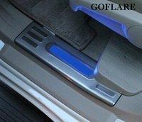 kapı eşik çizik koruyucuları toptan satış-Içinde led kapı eşiği şerit Toyota land cruiser prado için 150 aksesuarları 2010-2018 2019 ışıklı eşikleri bekçi itişme plakaları eşik