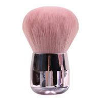 pinceau de maquillage tête plate achat en gros de-Champignon Blush Maquillage Pinceau Mini Poudre Douce Rose Or Plat Tête Ronde Tête Protable Maquillage Brosses Mignon Cosmétique Outils HHA315