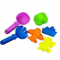 Wholesale toy shovels resale online - 6Pcs Beach Sand Toy Tool Set Models Sandbeach Tools Kids Outdoor Play Toy Spade Shovel Rake Water Tools Toys A889