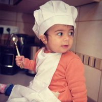 Wholesale apron hat for sale - Group buy Cute Baby White Cook Costume Photo Photography Prop Newborn Infant Hat Apron Chef Clothes For Kids