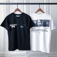 camiseta unisex venda por atacado-18fw Luxo Unisex EUA Mona Lisa 04 T-shirt de Alta Qualidade Moda Hip Hop Das Mulheres Dos Homens Roupas de Algodão Camiseta Casual Tee