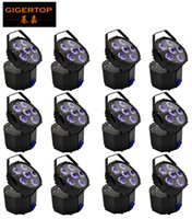 Wholesale 12 houses for sale - Gigertop Units x18W RGBWA UV IN1 Color New Battery Wireless Led Par Light with Handle Multi Angle Adjust Compacted Size Black Housing