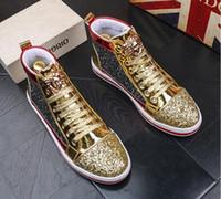 zapatos hombre hip hop al por mayor-Diseñador de la marca italiana zapatos de hombre de alta calidad de hip hop zapatos para hombre de lujo famosos tops de cuero de negocios zapatos de vestir W319