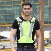 Wholesale cycle safety clothing online - Fashion Night Fluorescent High Visibility Reflective Safety Vest Adjustable Cycling Vests Running Working Vest Home Clothing CCA10930
