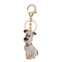 sosisli anahtarlık toptan satış-Güney Kore Sıcak Kristal Yavru Köpek Anahtarlık Anahtarlık Biblo Çanta Çanta Araba Anahtarlık Düğün Süs