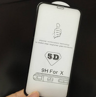 Wholesale mirrored screen protection film for sale – best 6D Full screen Glass Film Applicable to IPhonexs Max Tempered Film for Apple splus Mobile Phone Protection with retail package