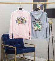 ingrosso felpa con cappuccio per le donne-Vetements Felpa con cappuccio Uomo Donna Donna Migliore qualità Felpe blu rosa Vetements Ricamo Cartoon Vetements Pullover
