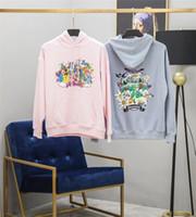 hoodies anime pour les hommes achat en gros de-Vetements Hoodie Hommes Femmes Femmes Meilleure Qualité Rose Bleu Sweats Vetements Dessin Animé De Broderie Vetements Pull
