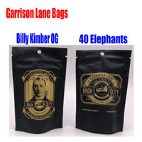 Wholesale flower elephant for sale - Group buy 3 grams Garrison Lane Smell Proof Bags Flavors Killy Kimber OG and Elephants Child Proof Stand Up Pouch Dry Herb Flowers