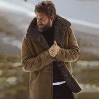casacos de cashmere dos homens venda por atacado-Designer grosso de inverno jaqueta casacos mens clothing quente cashmere único breasted hot casacos outwear windbreaker
