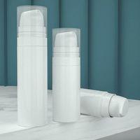 bouteille de récipient de pompe achat en gros de-5ML 10ml 15ml vides en plastique Airless presse à vide distributeurs d'émulsion Distributeurs de pulvérisation pompe bouteille de toner conteneurs pour la lotion maquillage cosmétique