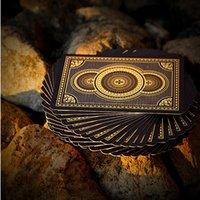 14g ton pokerchips großhandel-Heraldik goldene Plastikspielkarten Deck vergoldet breite Karten 88 * 63mm italienische Pokerkarten