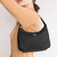 Wholesale vintage hobo tote bag for sale - Group buy Retro Baguette Bag For Women Trendy Vintage Nylon Handbag Female Small Subaxillary Bags Casual Retro Mini Shoulder Bag Bella