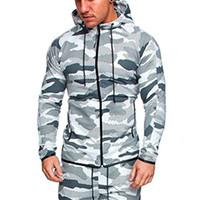 calças longas de camuflagem venda por atacado-Homens Conjuntos de Camuflagem Masculina Manga Comprida Hoodies Tactical Jaqueta Camuflagem Multicam À Prova D 'Água Blusas Ao Ar Livre Camo Tops Calças Ternos