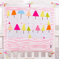 Wholesale sets for newborn resale online - 2016 Crib Organizer Toy Diaper Pocket for Crib Bedding Set Baby bed hanging bag Cot Organizer Bed Hanging Storage Bag Newborn