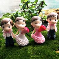 Wholesale bouquet toys diy resale online - Moss Micro Landscape Wedding Bouquet Dress Suit Ornaments DIY Small Model Landscaping Couple Decorations Romantic Miniature