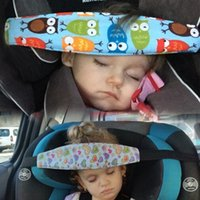 Wholesale car belt pad resale online - Baby Stroller Safety Baby Seat Cute Safety Kids Car Seat Sleep Nap Aid Head Band Support Holder Belt Pad Strap Car