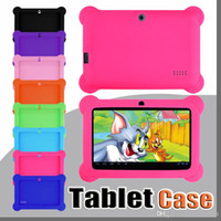 Wholesale children tablet cases resale online - Anti Dust Kids Child Soft Silicone Rubber Gel Case Cover For quot Inch Q88 Q8 A33 A23 Android Tablet pc MID