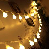 ingrosso sfere chiare per gli alberi-Nuovo 1.5M 3M 6M fata ghirlanda LED luci stringa palla impermeabile albero di natale vacanze di nozze illuminazione a batteria