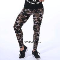 Wholesale gym yoga pant for sale - Group buy Summer Women Yoga Pants Elastic Sport Camouflage Leggings D Print Thin Fleece Slim Capris Quick Dry Trouser Skinny Gym Jeggings