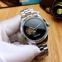 erkekler siyah iskelet mekanik saat toptan satış-Reloj Hombre Lüks Tasarımcı Erkek Mekanik Saatler Gün Tarih Üst Marka Spor Hareketi Basit İskelet Erkekler Otomatik İzle Kafatası Siyah Saat