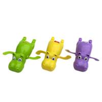 ingrosso giocattolo di coccodrillo di nuoto-Colore Casuale Baby Swim Toy Ippopotamo Tartaruga Hippocampus Kiss Pesce Crocodile Baby Bath Nuoto Giocattolo Clockwork Nuoto Accessori